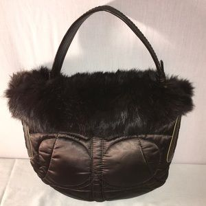 Coach Limited Edition Ski Bunny Fur Trim Hobo